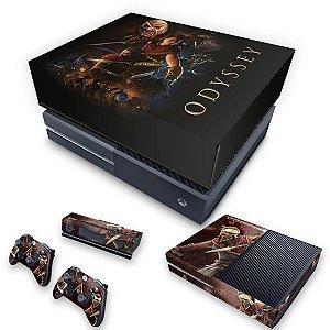 KIT Xbox One Fat Skin e Capa Anti Poeira - Assassins Creed Odyssey