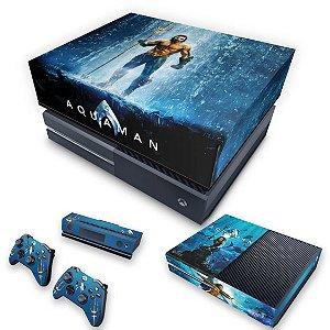 KIT Xbox One Fat Skin e Capa Anti Poeira - Aquaman