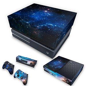 KIT Xbox One Fat Skin e Capa Anti Poeira - Universo Cosmos
