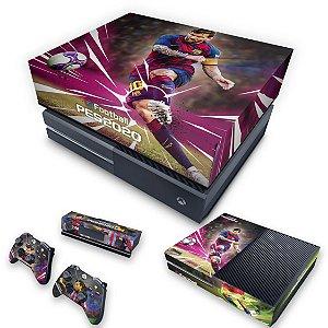 KIT Xbox One Fat Skin e Capa Anti Poeira - PES 2020