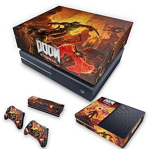 KIT Xbox One Fat Skin e Capa Anti Poeira - Doom Eternal