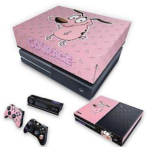 KIT Xbox One Fat Skin e Capa Anti Poeira - Coragem: O cão covarde