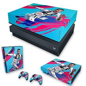 KIT Xbox One X Skin e Capa Anti Poeira - FIFA 19