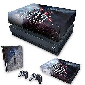 KIT Xbox One X Skin e Capa Anti Poeira - Star Wars Jedi Fallen Order