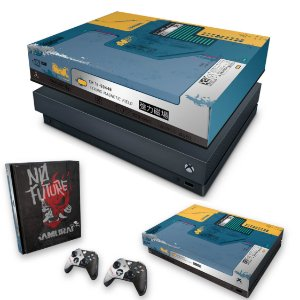 KIT Xbox One X Skin e Capa Anti Poeira - Cyberpunk 2077 Bundle