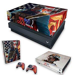 KIT Xbox One X Skin e Capa Anti Poeira - Call Of Duty Cold War
