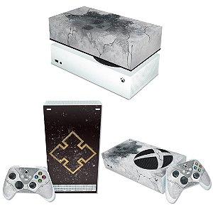KIT Xbox Series S Skin e Capa Anti Poeira - Gears 5 Bundle