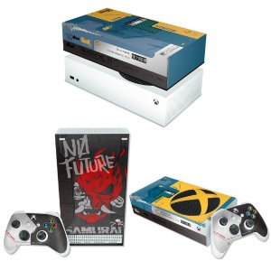 KIT Xbox Series S Skin e Capa Anti Poeira - Cyberpunk 2077 Bundle