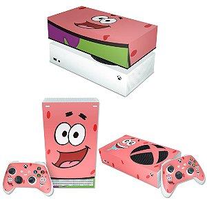 KIT Xbox Series S Skin e Capa Anti Poeira - Patrick Bob Esponja