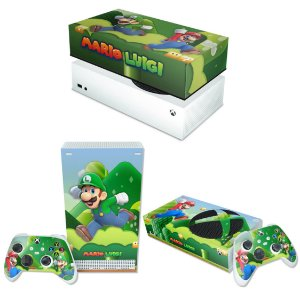 KIT Xbox Series S Skin e Capa Anti Poeira - Super Mario