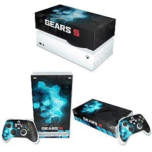KIT Xbox Series S Skin e Capa Anti Poeira - Gears 5