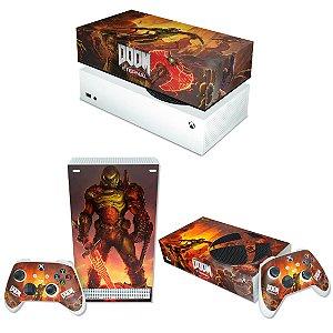 KIT Xbox Series S Skin e Capa Anti Poeira - Doom Eternal
