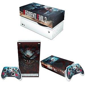KIT Xbox Series S Skin e Capa Anti Poeira - Resident Evil 2 Remake