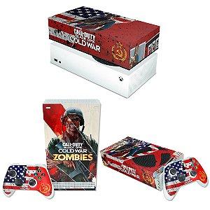 KIT Xbox Series S Skin e Capa Anti Poeira - Call Of Duty Cold War