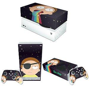 KIT Xbox Series S Skin e Capa Anti Poeira - Morty Rick And Morty