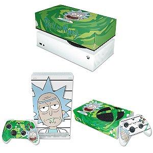 KIT Xbox Series S Skin e Capa Anti Poeira - Rick And Morty