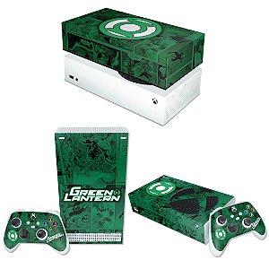 KIT Xbox Series S Skin e Capa Anti Poeira - Lanterna Verde Comics