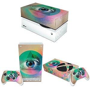 KIT Xbox Series S Skin e Capa Anti Poeira - Abstrato #89