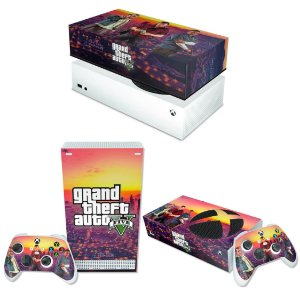 KIT Xbox Series S Skin e Capa Anti Poeira - GTA V