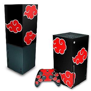 KIT Xbox Series X Skin e Capa Anti Poeira - Naruto Akatsuki