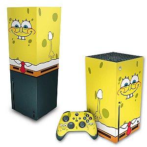 KIT Xbox Series X Skin e Capa Anti Poeira - Bob Esponja