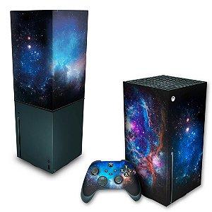 KIT Xbox Series X Skin e Capa Anti Poeira - Universo Cosmos