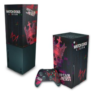 KIT Xbox Series X Skin e Capa Anti Poeira - Watch Dogs Legion