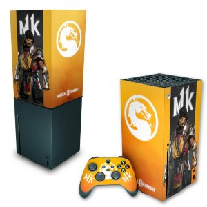 KIT Xbox Series X Skin e Capa Anti Poeira - Mortal Kombat 11