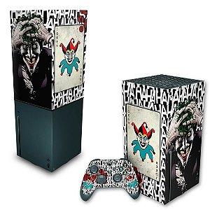 KIT Xbox Series X Skin e Capa Anti Poeira - Joker Coringa