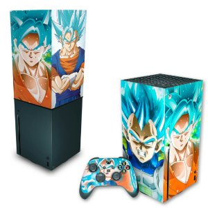 KIT Xbox Series X Skin e Capa Anti Poeira - Dragon Ball Super