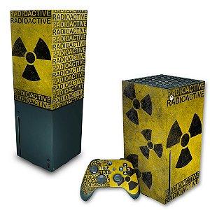 KIT Xbox Series X Skin e Capa Anti Poeira - Radioativo