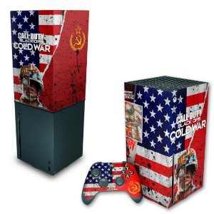 KIT Xbox Series X Skin e Capa Anti Poeira - Call Of Duty Cold War