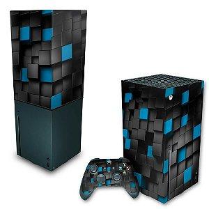KIT Xbox Series X Skin e Capa Anti Poeira - Cubos