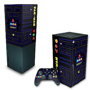 KIT Xbox Series X Skin e Capa Anti Poeira - Pac Man