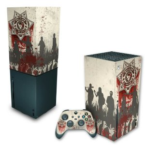 KIT Xbox Series X Skin e Capa Anti Poeira - The Walking Dead