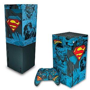 KIT Xbox Series X Skin e Capa Anti Poeira - Superman Comics