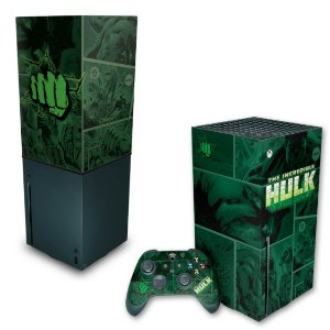 KIT Xbox Series X Skin e Capa Anti Poeira - Hulk Comics