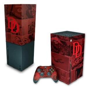 KIT Xbox Series X Skin e Capa Anti Poeira - Daredevil Demolidor Comics