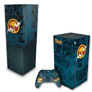 KIT Xbox Series X Skin e Capa Anti Poeira - Thor Comics