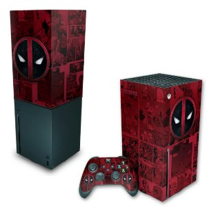 KIT Xbox Series X Skin e Capa Anti Poeira - Deadpool Comics