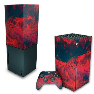 KIT Xbox Series X Skin e Capa Anti Poeira - Abstrato #98