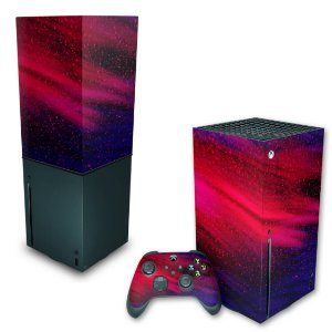 KIT Xbox Series X Skin e Capa Anti Poeira - Abstrato #101
