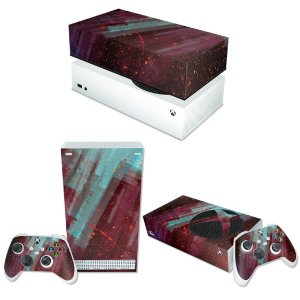 KIT Xbox Series S Skin e Capa Anti Poeira - Abstrato #100