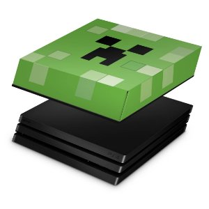 PS4 Pro Capa Anti Poeira - Creeper Minecraft