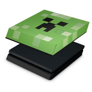 PS4 Slim Capa Anti Poeira - Creeper Minecraft