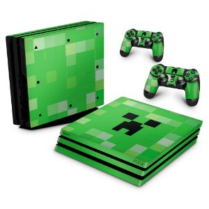 PS4 Pro Skin - Creeper Minecraft