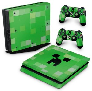 PS4 Slim Skin - Creeper Minecraft