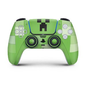 Skin PS5 Controle - Creeper Minecraft