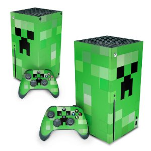 Xbox Series X Skin - Creeper Minecraft