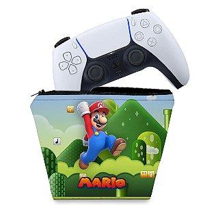 Capa PS5 Controle Case - Super Mario